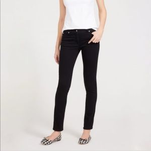 J. McLaughlin Lexi Black Stretch Skinny Jeans 0